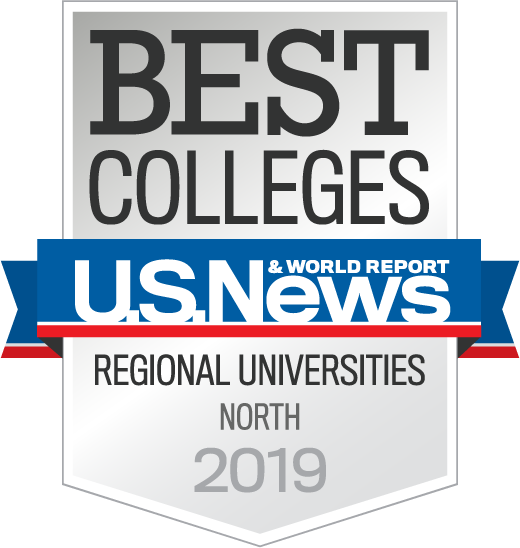 U.S. News & World Report Best Colleges, Regional Universities - North 2019 award badge